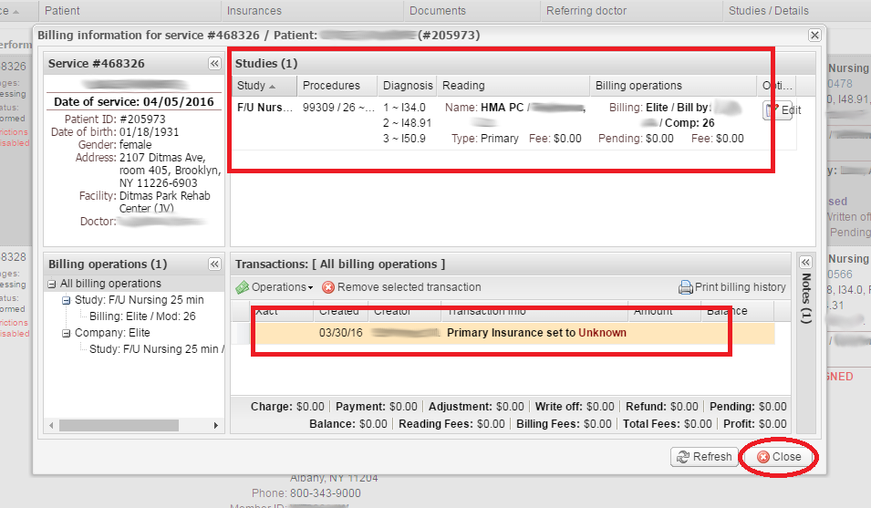 EMSOW   How to assign a billing company to performed studies