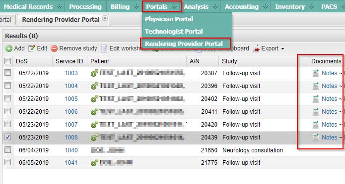 Rendering Provider Portal