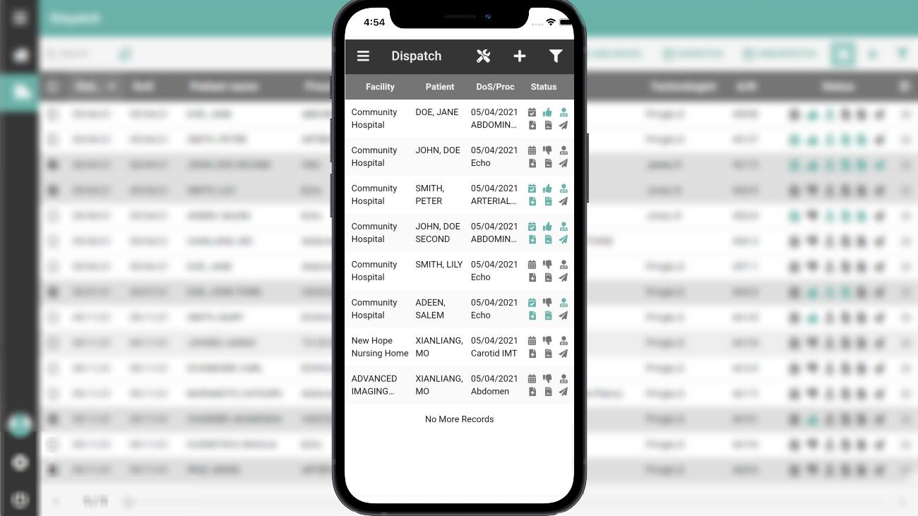 Mobile Technologist Dispatch